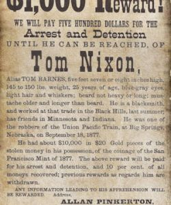 Pinkerton Circular for Tom Nixon