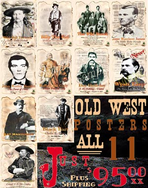 Original Wild West Poster Line