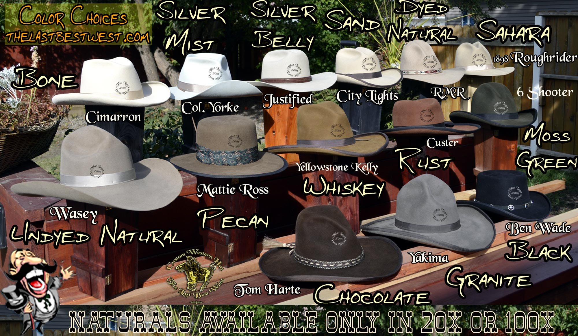 9099bddb3 Cowboy Hat Colors - The Last Best West