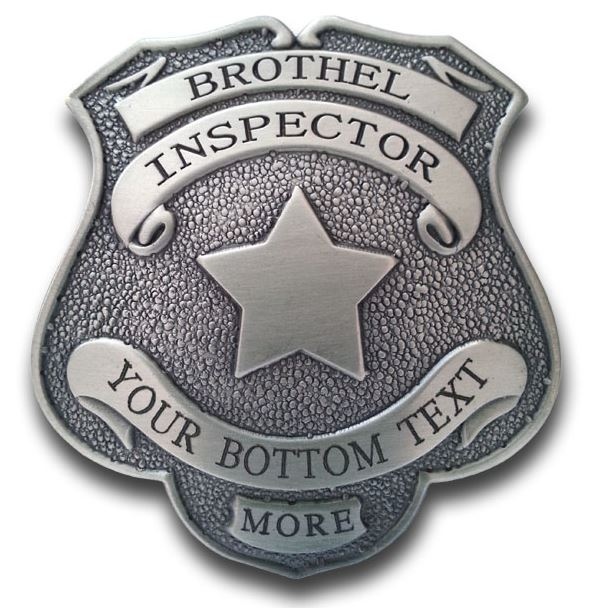 Blank Brothel Inspector Badge