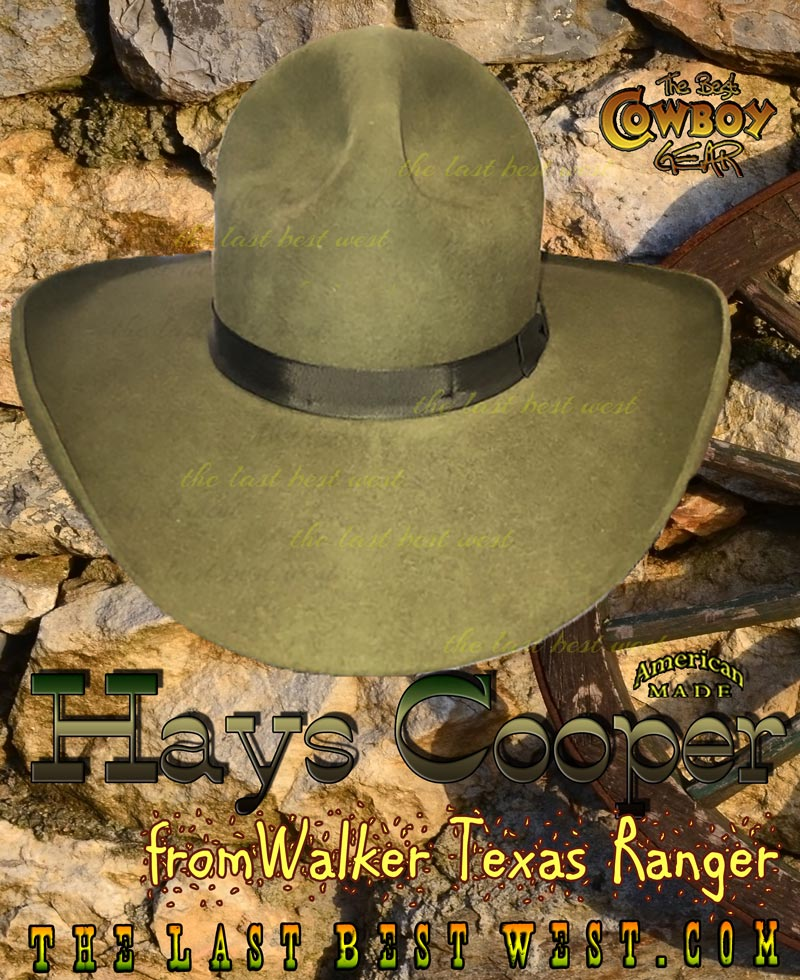 Hays Cooper hat from Walker Texas Ranger