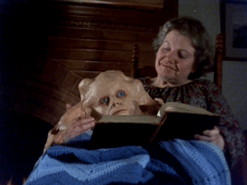 Aunt reading to Belial
