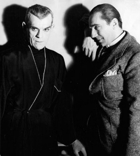 Karloff and Lugosi promo shot