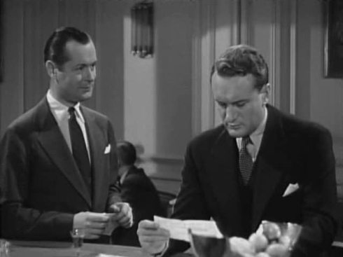 Robert Montgomery and George Sanders in Rage in Heaven
