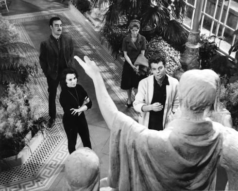 Photo of Richard Johnson, Claire Bloom, Russ Tamblyn, and Julie Harris in the movie The Haunting, 1963. Photo/Art by:anon