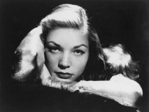 Headshot of actress Lauren Bacall pictured with her chin resting on her right wrist, USA, circa 1945. (Photo by Archive Photos/Getty Images)