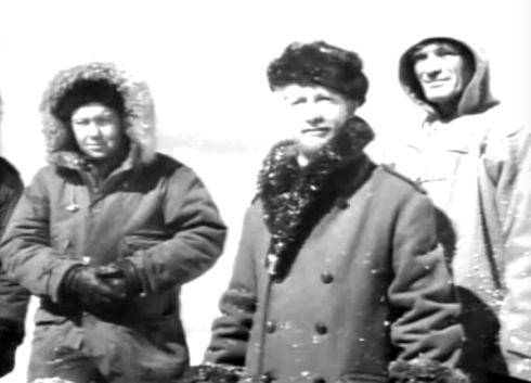 The Thing crew out on ice close up 2