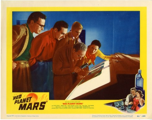 red planet mars lobby card