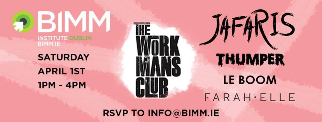 Jafaris, Thumper, Le Boom & Farah Elle set for BIMM all-ages gig in the Workman's