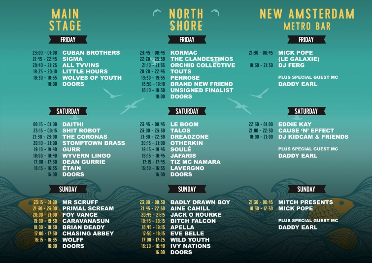 Sea Sessions 2017 stage times