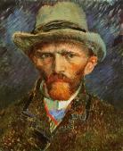 Self Portrait with a Grey Felt Hat, Vincent Van Gogh, 1887
