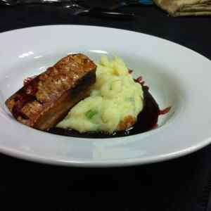 Menu - Slow cooked Pork Belly on Mash Potato