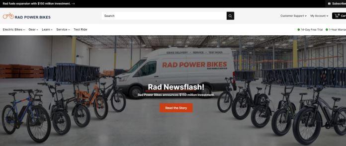 Rad Power Bikes Website