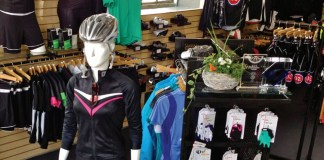 Bicycle Clothing and Helmets display