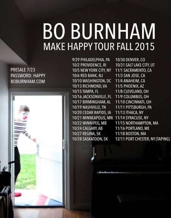Bo Burnham Tour Dates