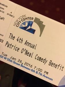 Patrice Benefit Ticket