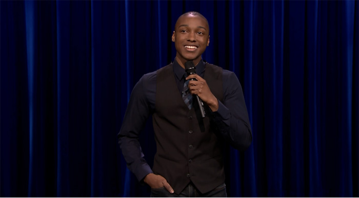 "Josh Johnson makes his late night debut on ""The Tonight Show"""