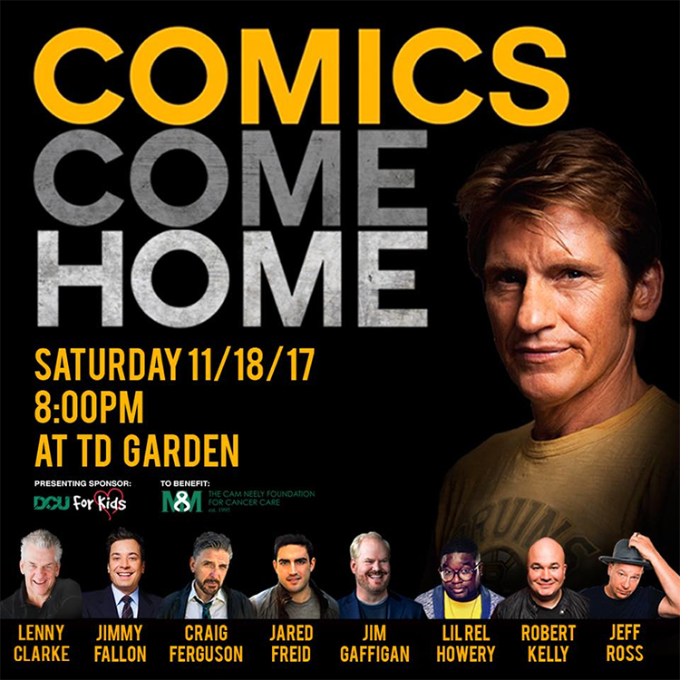 Denis Leary announces 2017's Comics Come Home lineup including Fallon, Ferguson, Gaffigan, and Ross