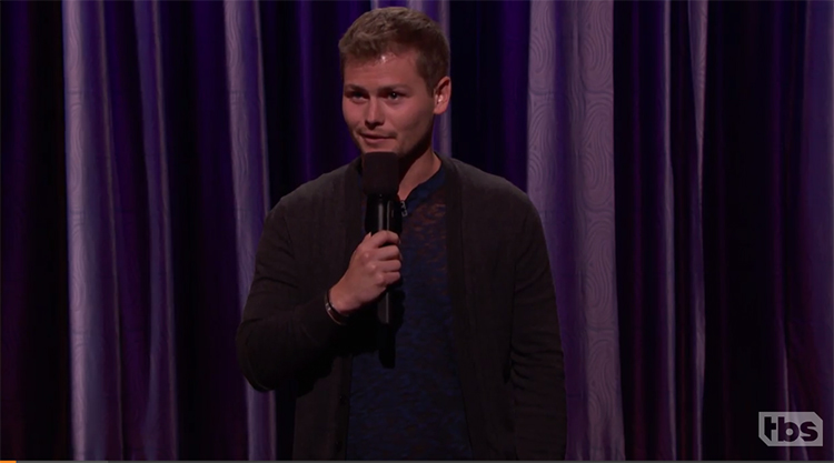 "Drew Lynch made his late night stand-up debut on ""Conan"""