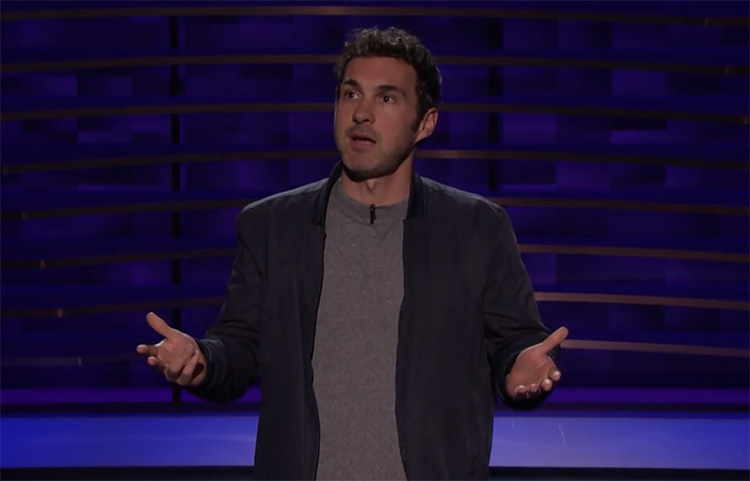 "Mark Normand was on ""Conan"" and talked about dating apps and height supremacists"