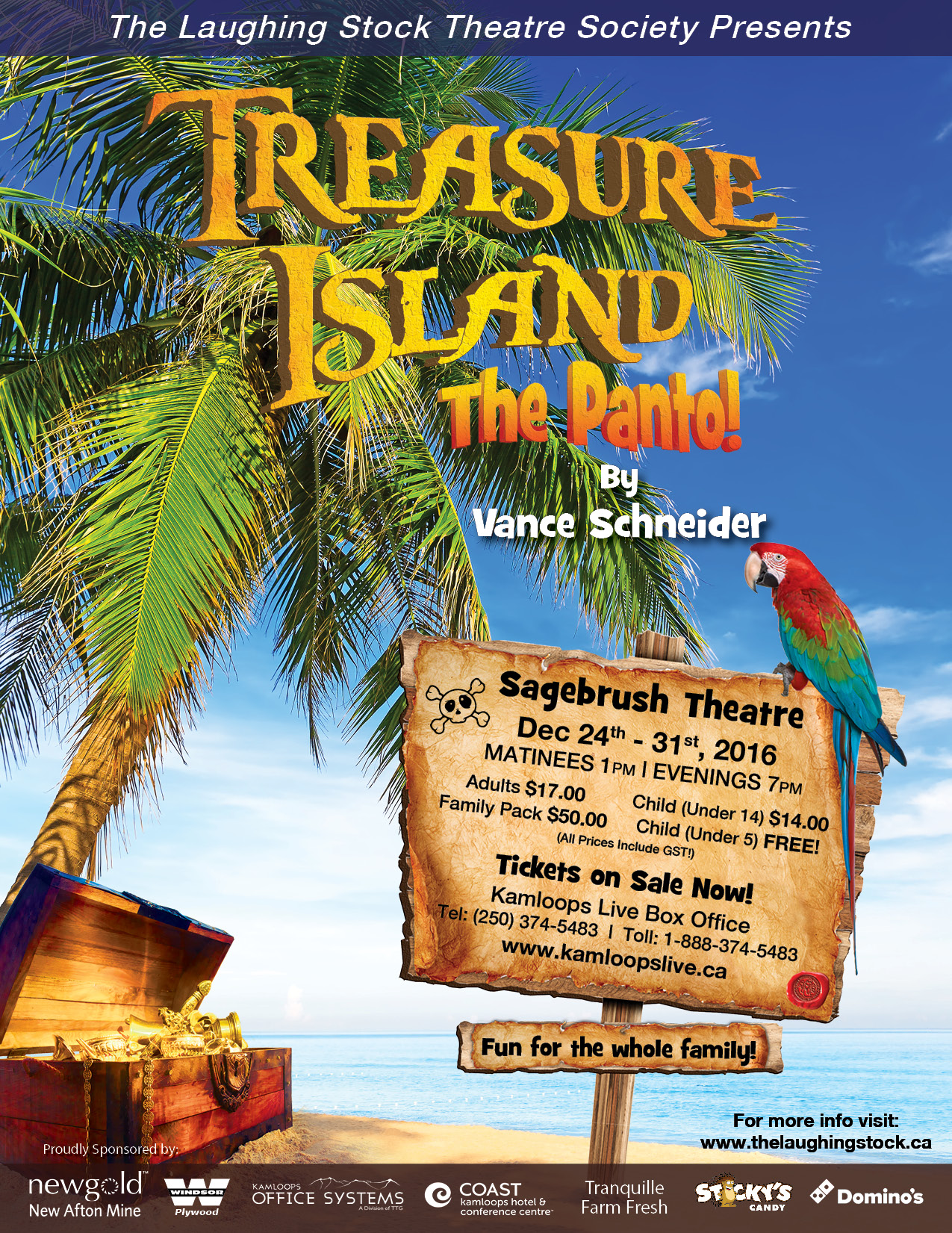 Treasure Island The Panto The Laughing Stock Theatre
