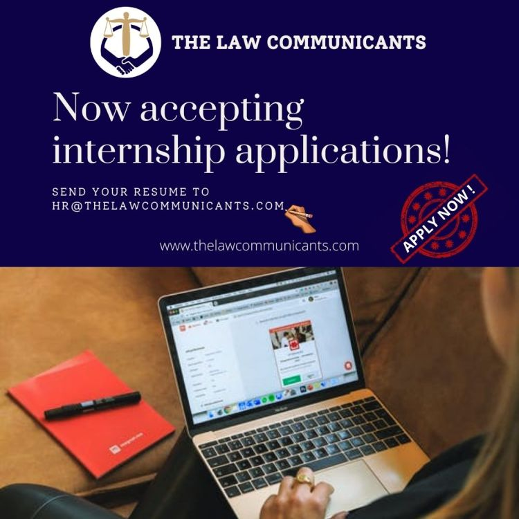 Internship Opportunity at The Law Communicants