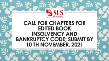 Call For Chapters For Edited Book Insolvency And Bankruptcy Code - The Law Communicants