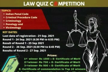 National Online Criminal Law Quiz Competition - The Law Communicants