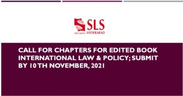 Call For Chapters For Edited Book International Law & Policy - The Law Communicants
