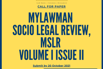 Socio-Legal Review-Journal by MyLawman - The Law Communicants