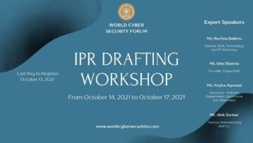 """4 Days Online Workshop on """"IPR Drafting in India"""" - The Law Communicants"""