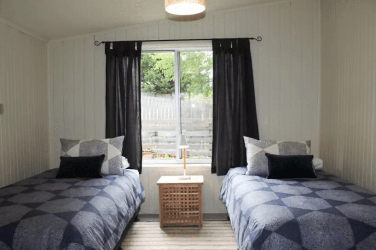 The second bedroom at Blue Derby Base