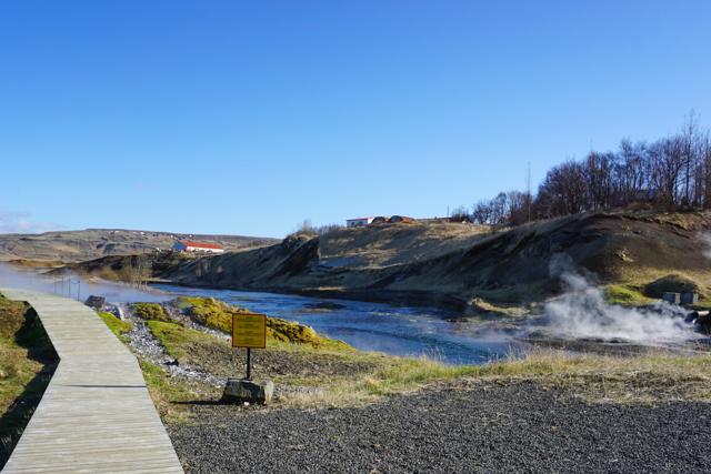The thermal springs next to Gamla Laugin.
