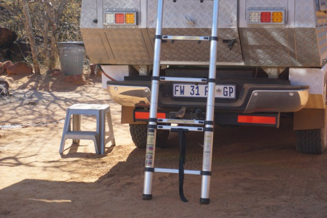 Ford Ranger Bushcamper double cab Group K ladder