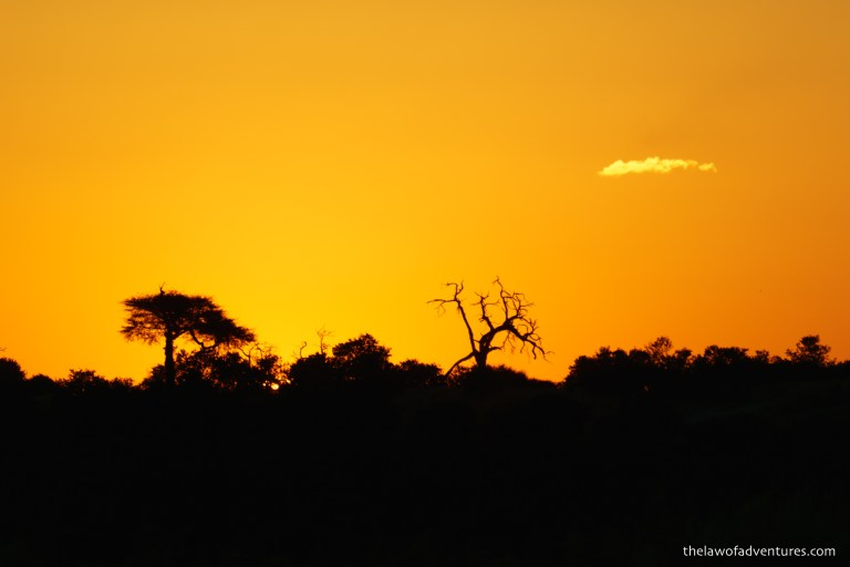 Sunset over Savuti