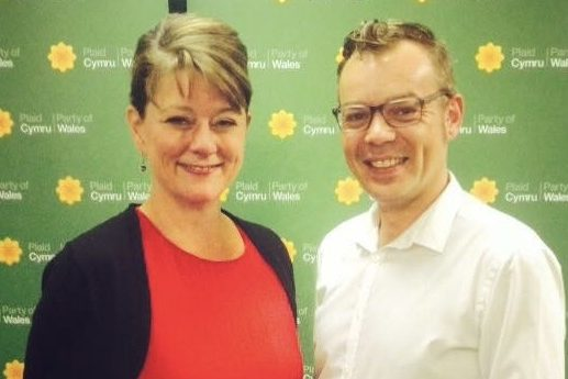 Lady Twp, Leanne Wood and Darren Bromham-Nichols