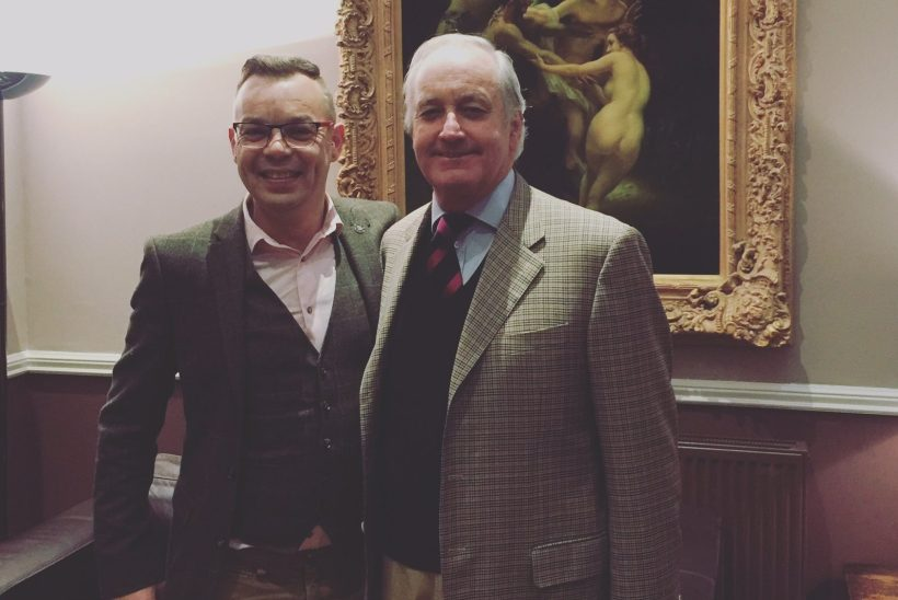 Darren Bromham-Nichols with Neil Hamilton who defended Ann Marie Waters