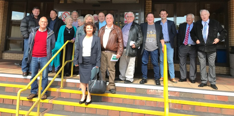 Caroline Jones and her UKIP team, following the Unison meeting.