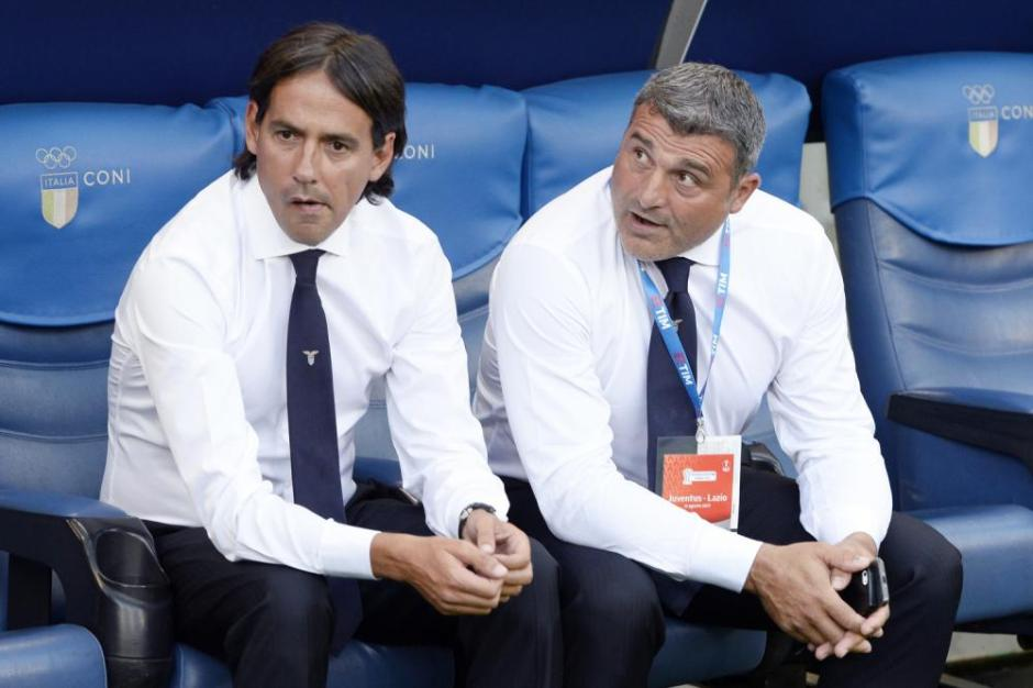 Coach Simone Inzaghi and Legendary goalkeeper Angelo Peruzzi, Source: TUTTOmercatoWEB.com