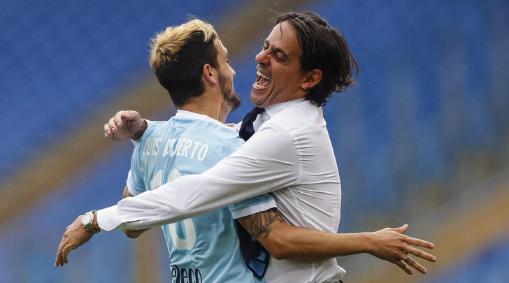 Luis Alberto and Simone Inzaghi