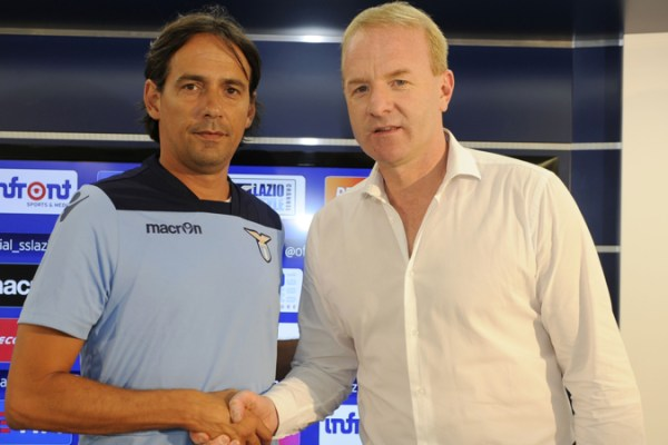Simone Inzaghi and Igli Tare of S.S.Lazio, Source- Corriere dello Sport