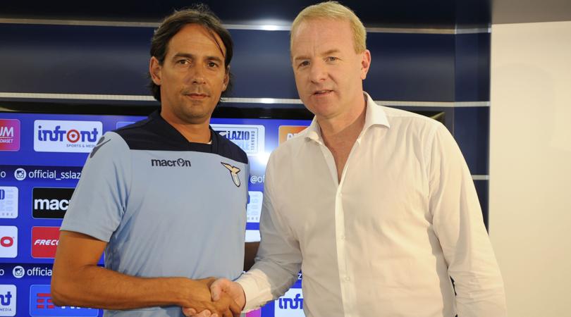 Simone Inzaghi and Igli Tare of S.S.Lazio, Source- Corriere dello Sport