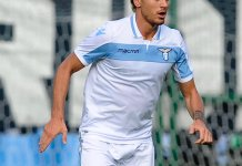 Patric in Lazio's away kit - Source: SS Lazio