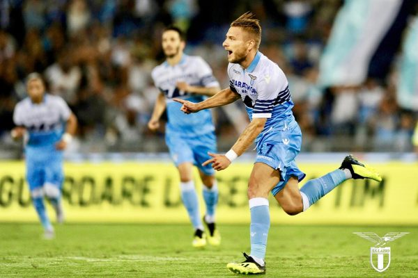 Ciro Immobile celebrating a goal, Source- Official S.S.Lazio