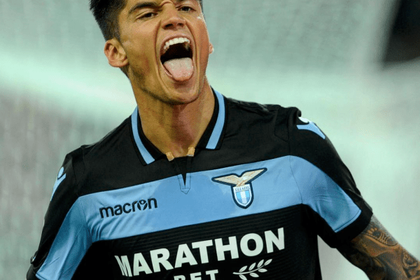 Joaquin Correa celebrates his first goal in the biancocelesti jersey, Source- Official S.S.Lazio