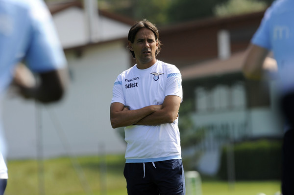 Simone Inzaghi in Lazio training, Source- zimbio.com