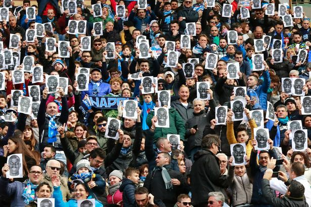 Napoli Fans, Source- The Mirror