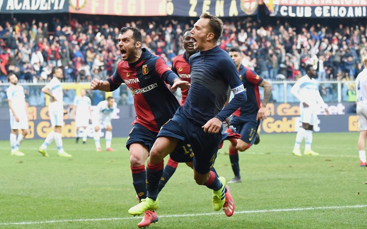 Criscito scores in Genoa vs Lazio - Source - Sky