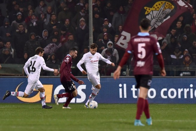 SALERNO, ITALY - DECEMBER 21: during the Serie B match between US Salernitana and Foggia Calcio at Stadio Arechi on December 21, 2017 in Salerno, Italy. (Photo by Tullio M. Puglia/Getty Images)