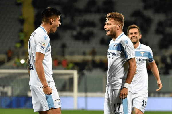 Ciro Immobile and Joaquin Correa, Source- Official S.S.Lazio